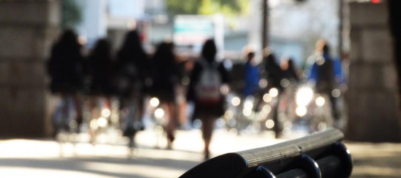 自転車下校